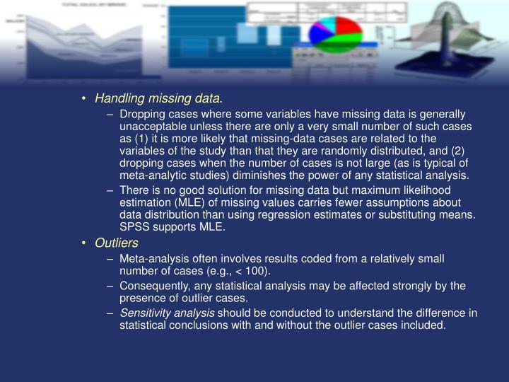 Handling missing data