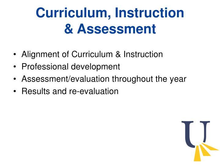 Curriculum, Instruction