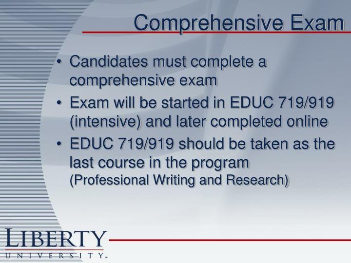 Comprehensive Exam