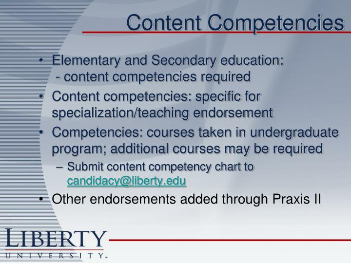 Content Competencies