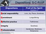 dispositions s c r i p
