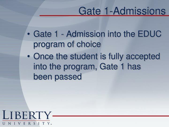 Gate 1-Admissions