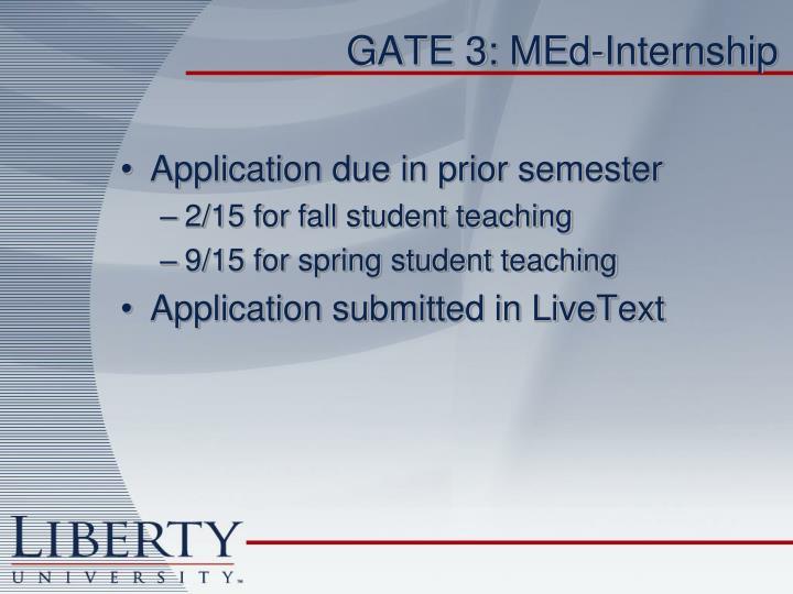 GATE 3: