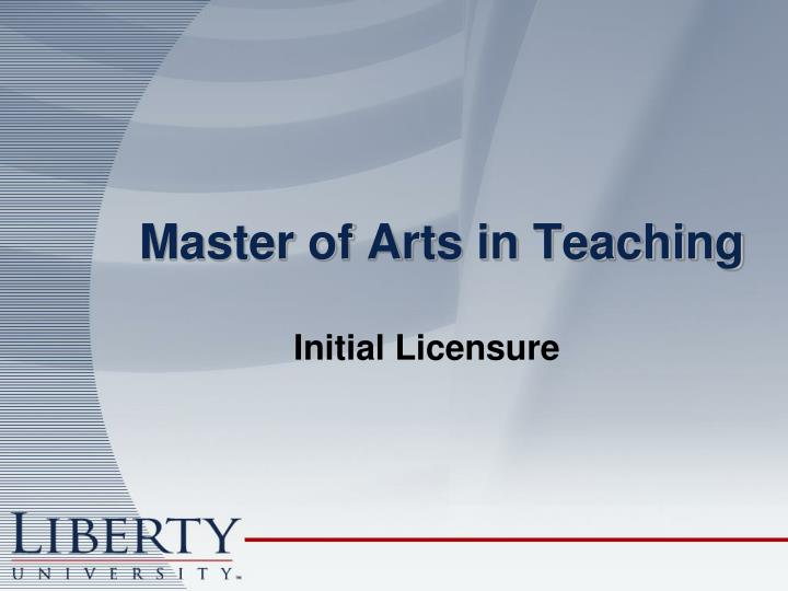 Master of Arts in Teaching
