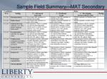 sample field summary mat secondary