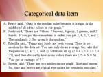 categorical data item1