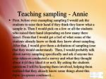 teaching sampling annie
