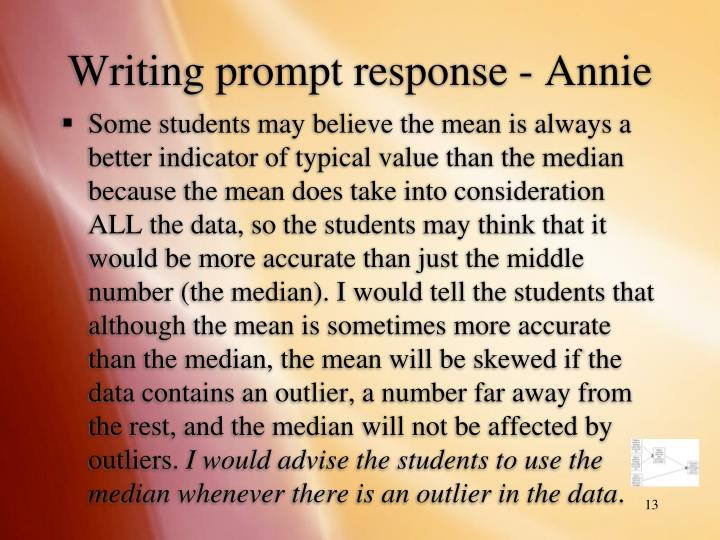 Writing prompt response - Annie