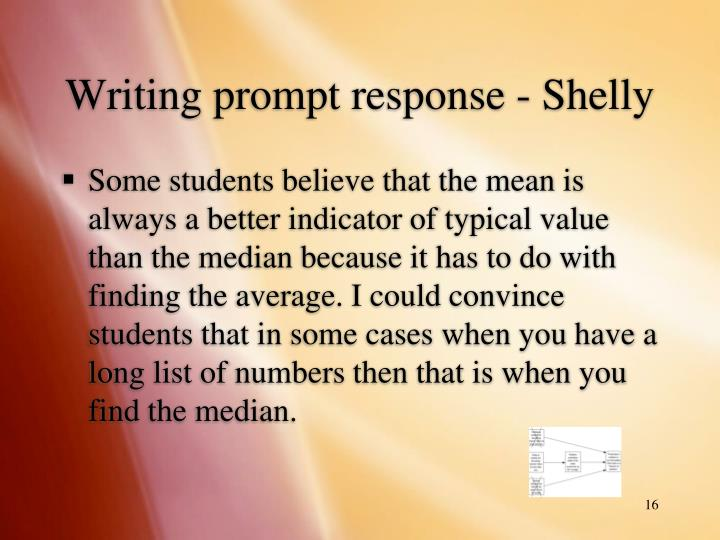 Writing prompt response - Shelly