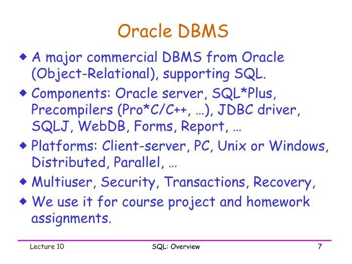 Oracle DBMS