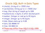 oracle sql built in data types
