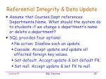 referential integrity data update