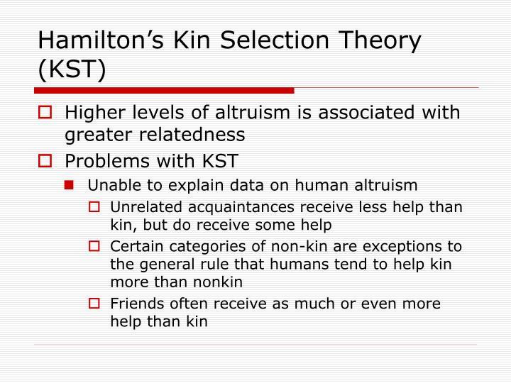 Hamilton's Kin Selection Theory (KST)