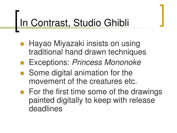 In Contrast, Studio Ghibli