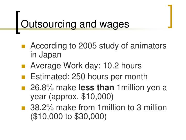 Outsourcing and wages