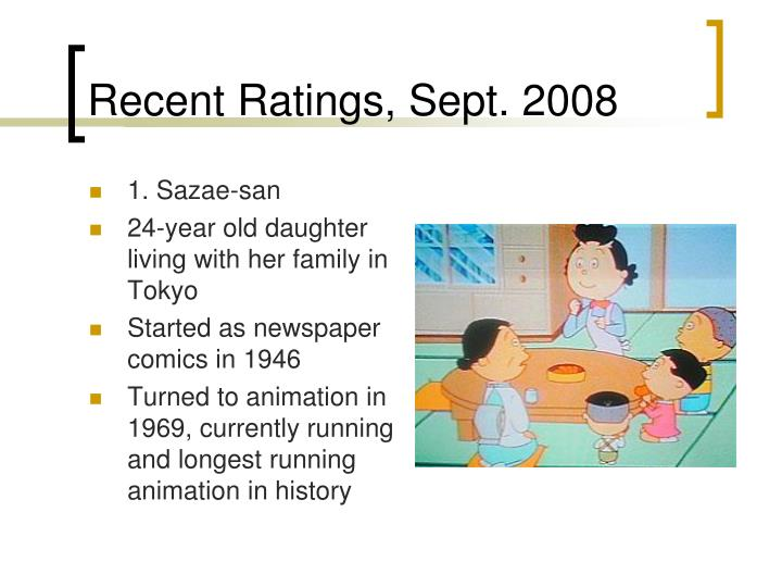 Recent Ratings, Sept. 2008