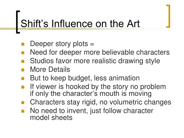 Shift's Influence on the Art