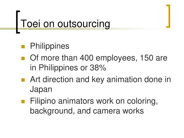 Toei on outsourcing