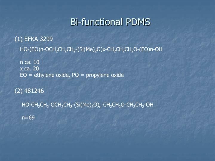 Bi-functional PDMS
