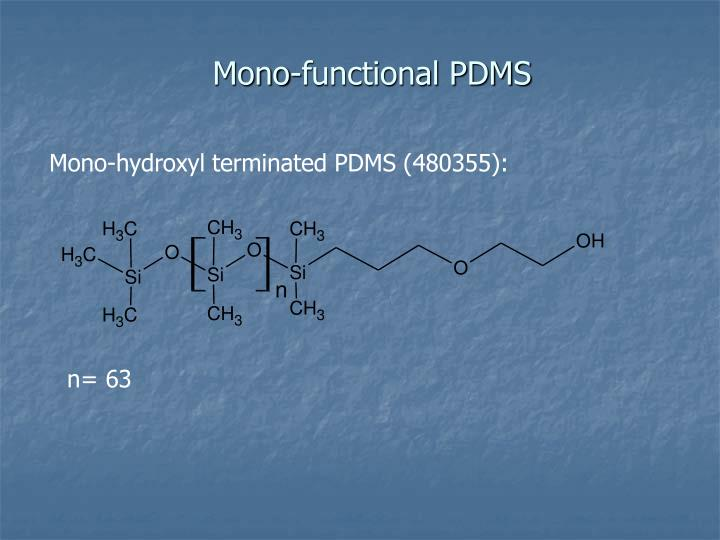 Mono-functional PDMS