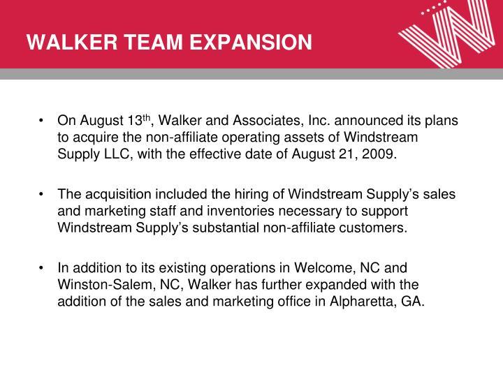WALKER TEAM EXPANSION