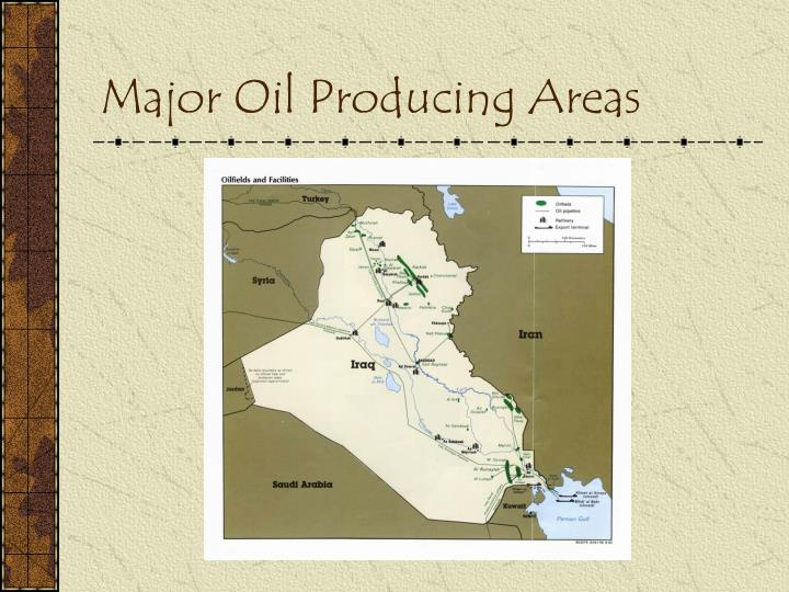 Major Oil Producing Areas