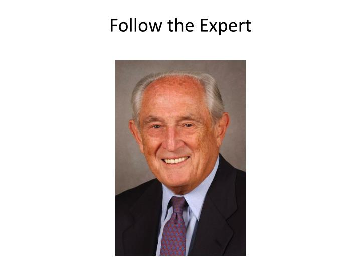 Follow the Expert