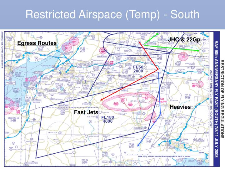 Restricted Airspace (Temp) - South