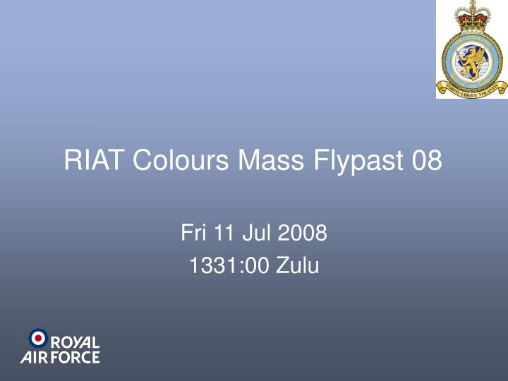 RIAT Colours Mass Flypast 08