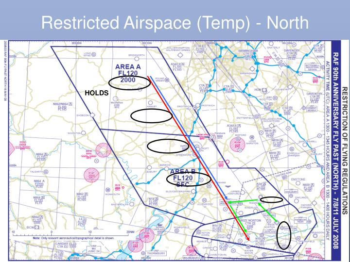 Restricted Airspace (Temp) - North