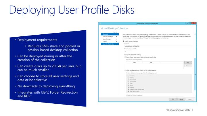 Deploying User Profile Disks