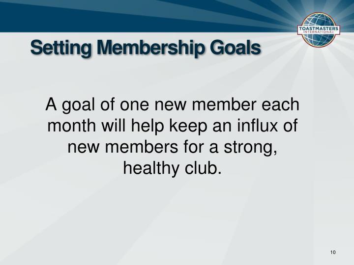 Setting Membership Goals