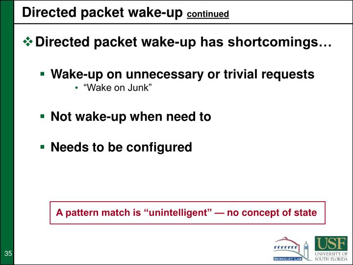 Directed packet wake-up