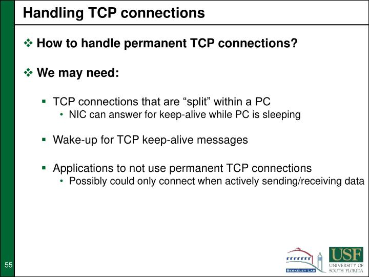 Handling TCP connections