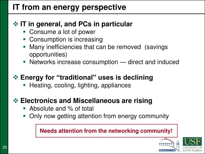 IT from an energy perspective
