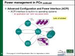 power management in pcs continued