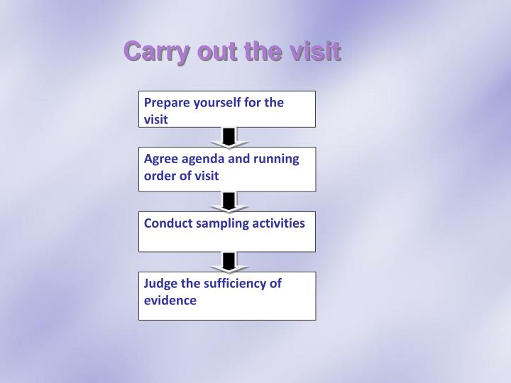 Carry out the visit