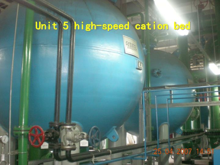 Unit 5 high-speed cation bed