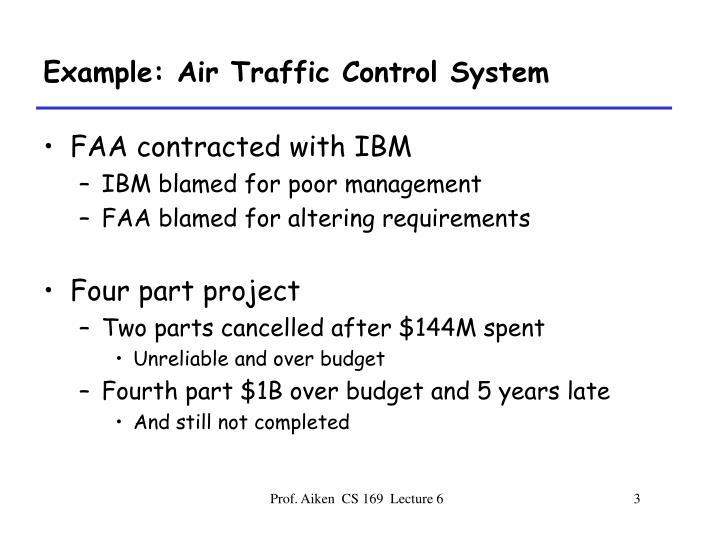 Example: Air Traffic Control System