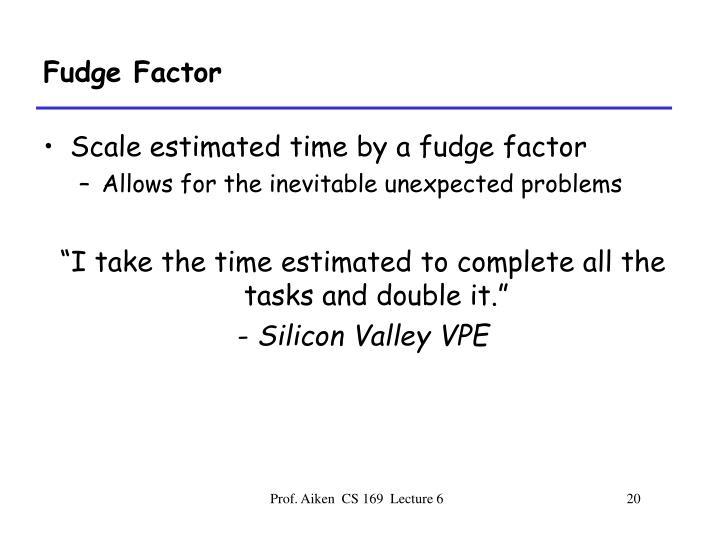 Fudge Factor