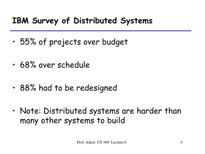 IBM Survey of Distributed Systems