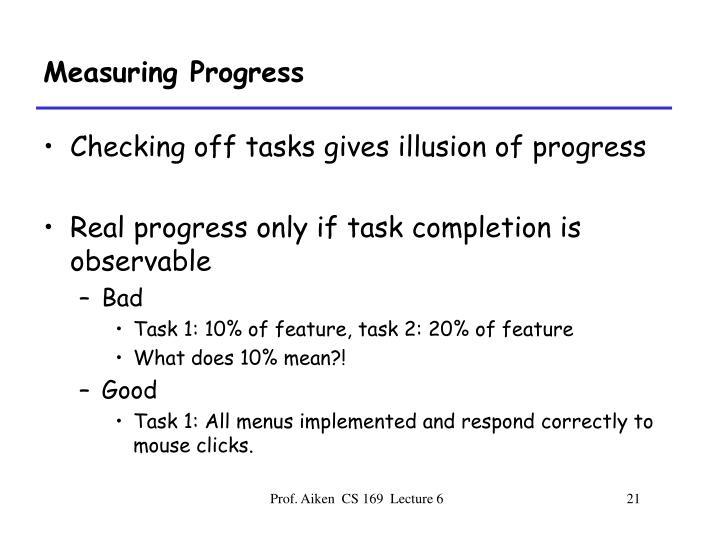 Measuring Progress