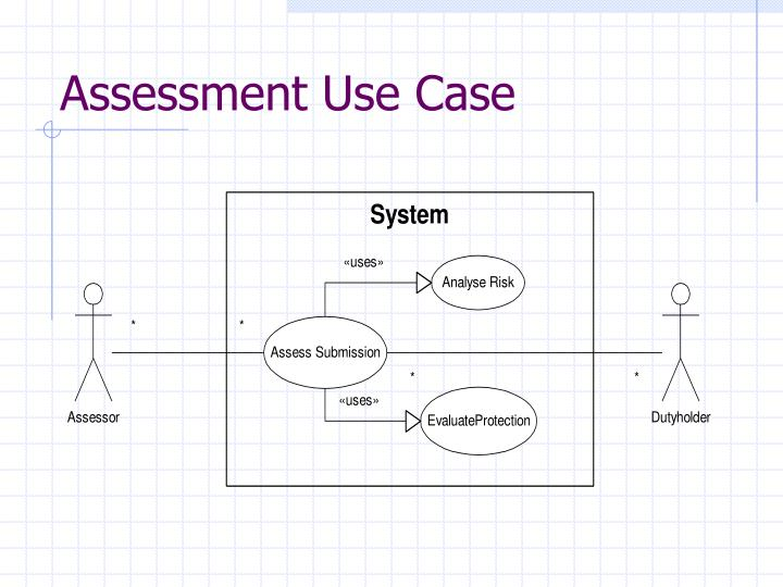 Assessment Use Case