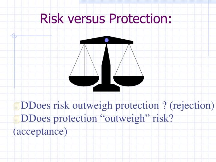 Risk versus Protection: