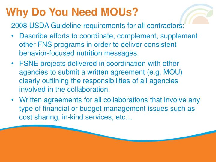 Why do you need mous