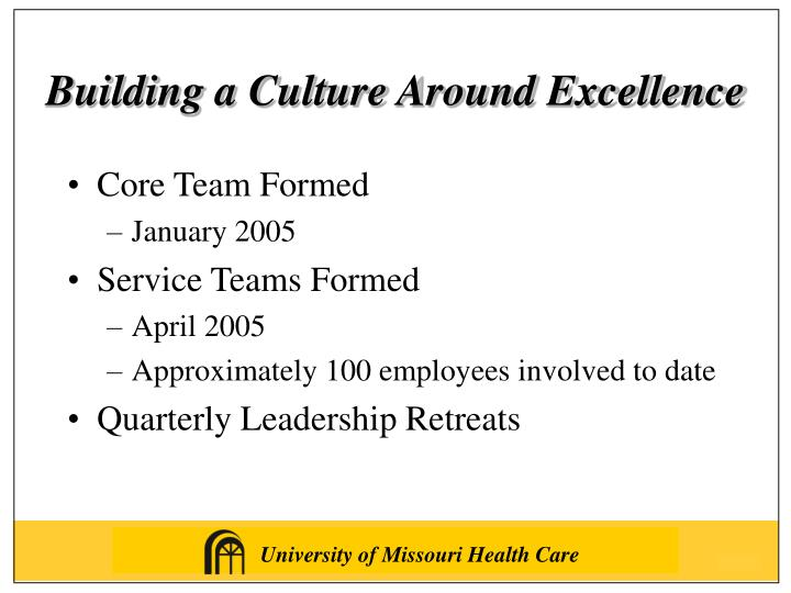 Building a Culture Around Excellence