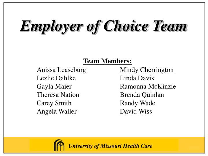 Employer of Choice Team