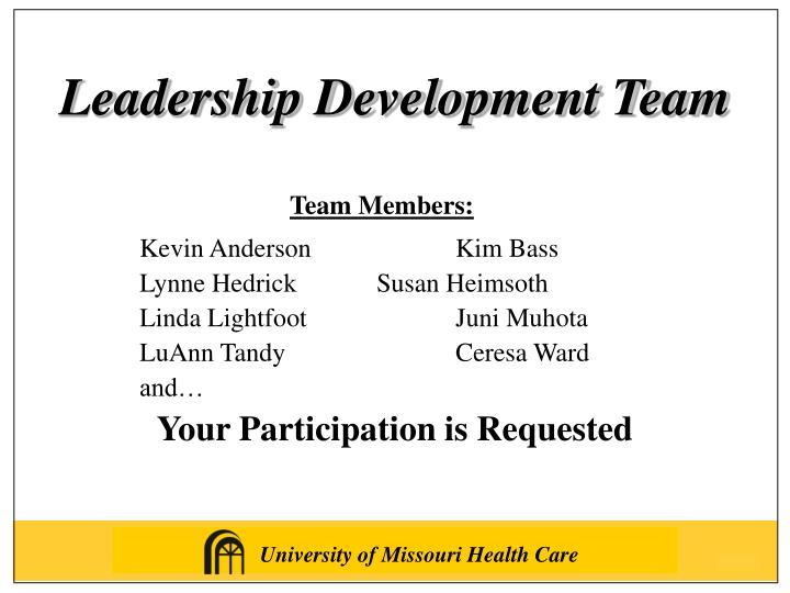 Leadership Development Team