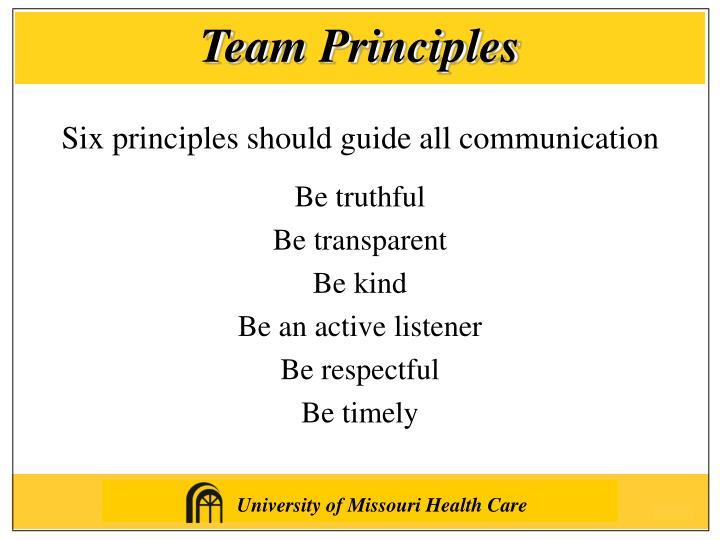 Team Principles