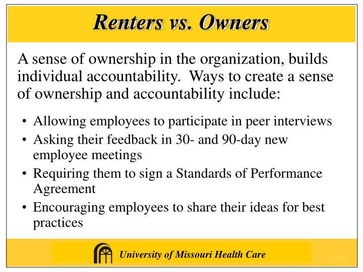 Renters vs. Owners